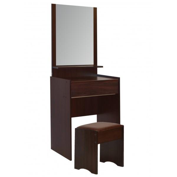 Τουαλέτα με καθρέπτη & σκαμπό - Φυσικό