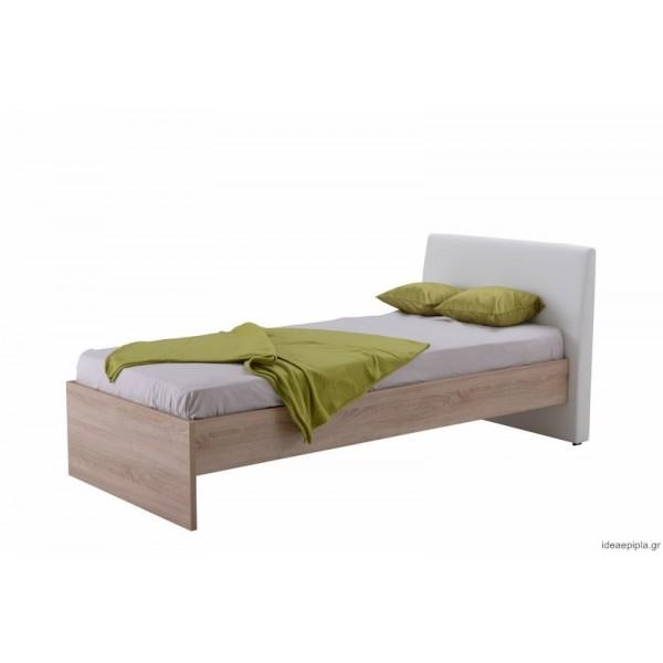 Κρεβάτι Ben 90 Sonoma/Άσπρο