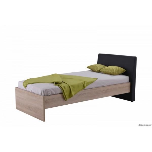 Κρεβάτι Ben 90 Sonoma/Μαύρο