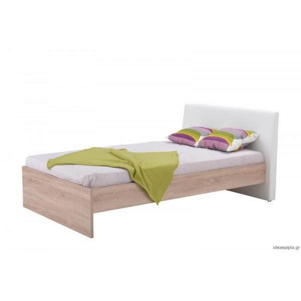 Κρεβάτι Ben 120 Sonoma/Άσπρο