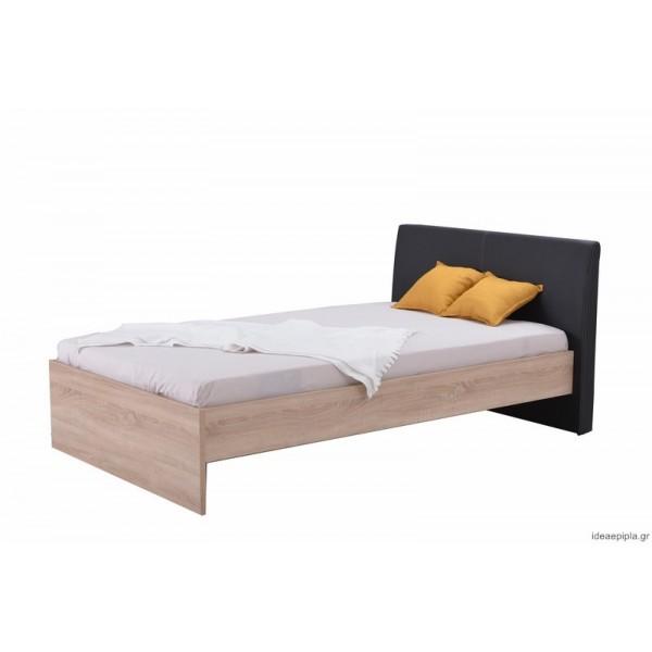 Κρεβάτι Ben 120 Sonoma/Μαύρο