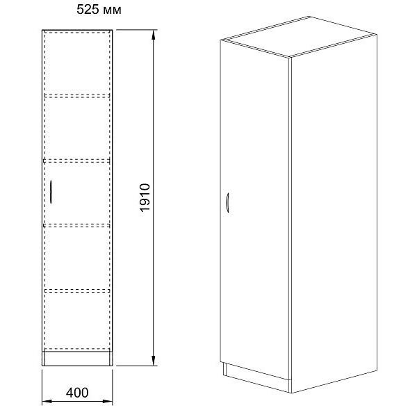 ΝΤΟΥΛΑΠΑ CITY 1010 SONOMA 40X52,5X191 εκ.