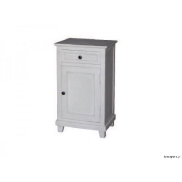 Κομοδίνο με ντουλάπι και συρτάρι