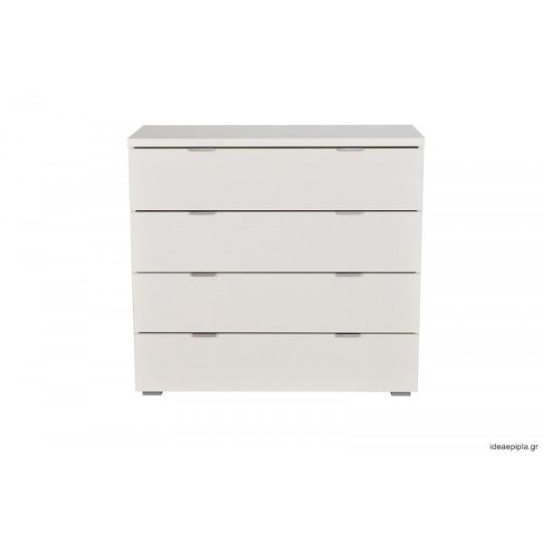 Συρταριέρα Universal 4F Λευκό