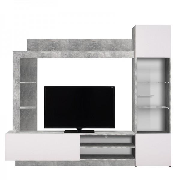 ΣΥΝΘΕΣΗ TV TOTO CONCRETE(CEMENT)/ΛΕΥΚΟ 204Χ35Χ174,5 εκ.