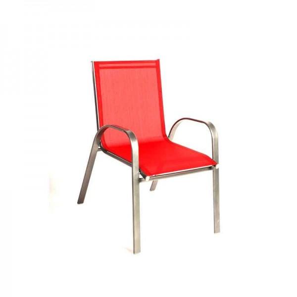 Καρέκλα 341-15-037 Textilene Κόκκινη