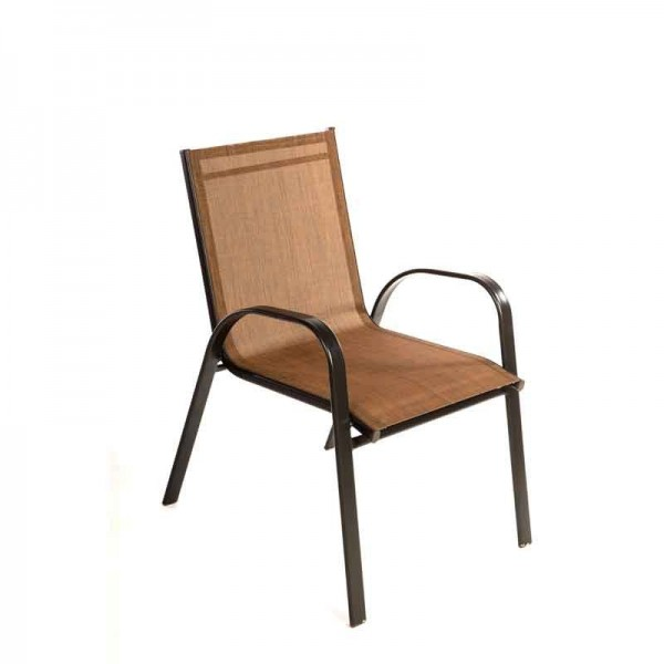 Καρέκλα 341-15-039 Textilene Καφέ