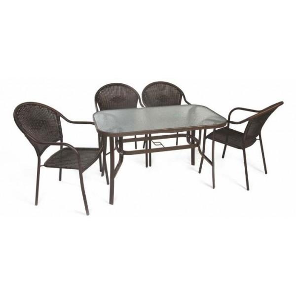 Σετ κήπου τραπεζαρία με 4 καρέκλες No2