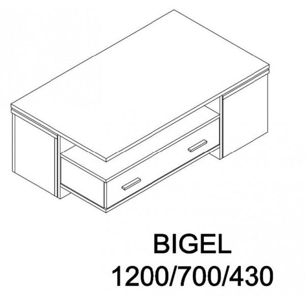 ΤΡΑΠΕΖΑΚΙ ΣΑΛΟΝΙΟΥ BIGEL SONOMA/CEMENT 120Χ70Χ43 εκ.