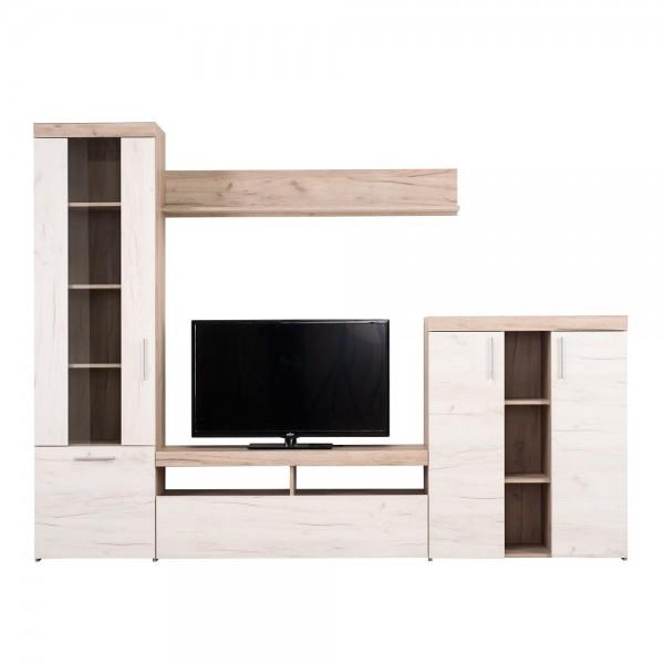 ΣΥΝΘΕΣΗ TV ARNO GREY OAK/WHITE OAK 262X35X195 εκ.