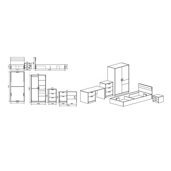 ΠΑΙΔΙΚΗ ΣΥΝΘΕΣΗ CITY 5022 SONOMA/ΛΑΧΑΝΙ/ΓΡΑΦΙΤΗΣ 90X200 εκ.
