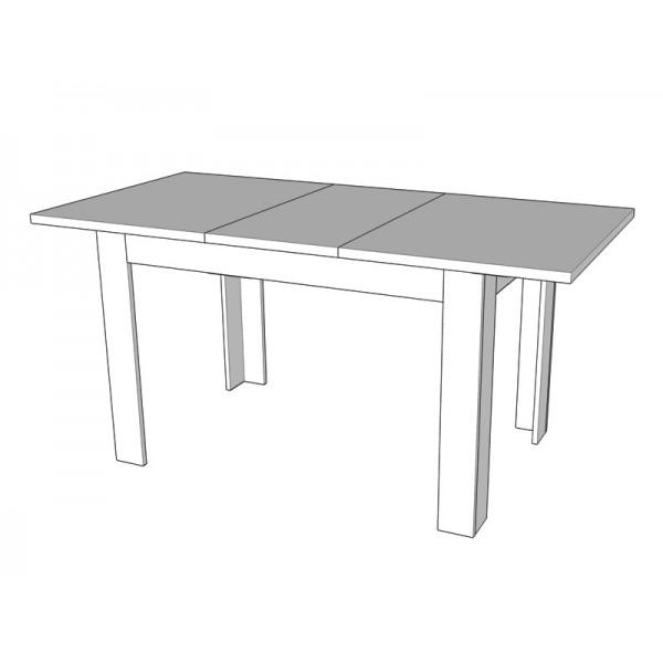 Τραπέζι Κουζίνας Ανοιγόμενο DT 120X80 ΛΕΥΚΟ