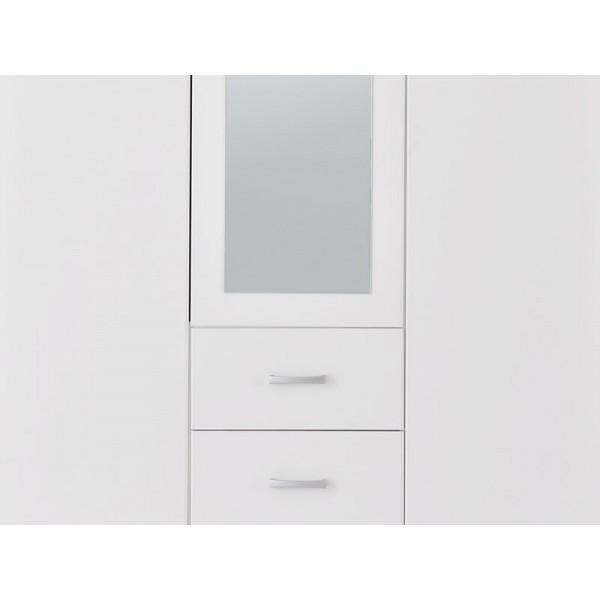 Ντουλάπα 3φυλλη Hana 3K2FO Ασπρη