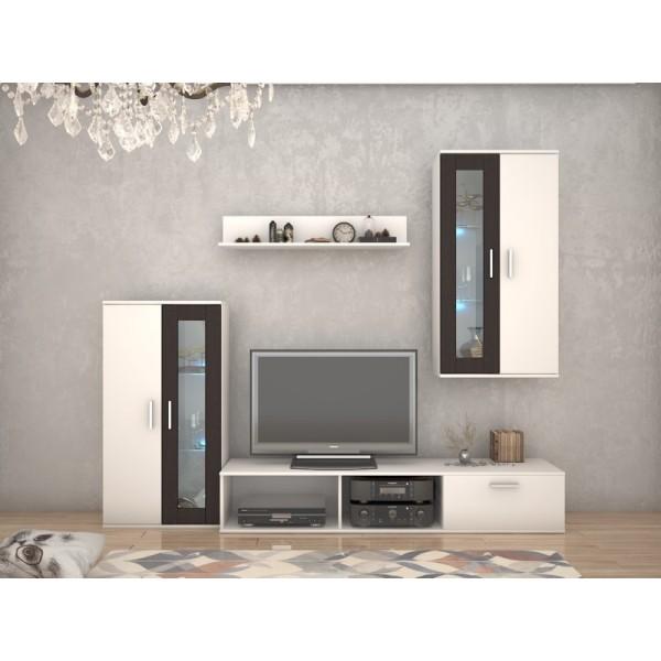 Σύνθετο TV Kalia Άσπρο/Wenge