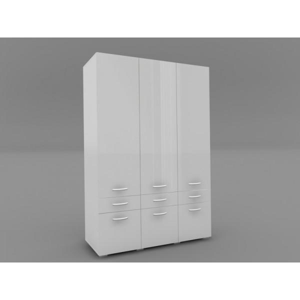 Ντουλάπα 3Φυλλη Brillant Άσπρο/Άσπρο