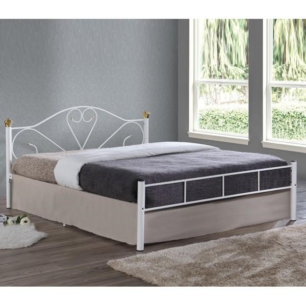 Μεταλλικό Κρεβάτι Spring Λευκό