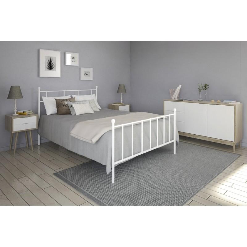Μεταλλικό Κρεβάτι Lida Ασπρο