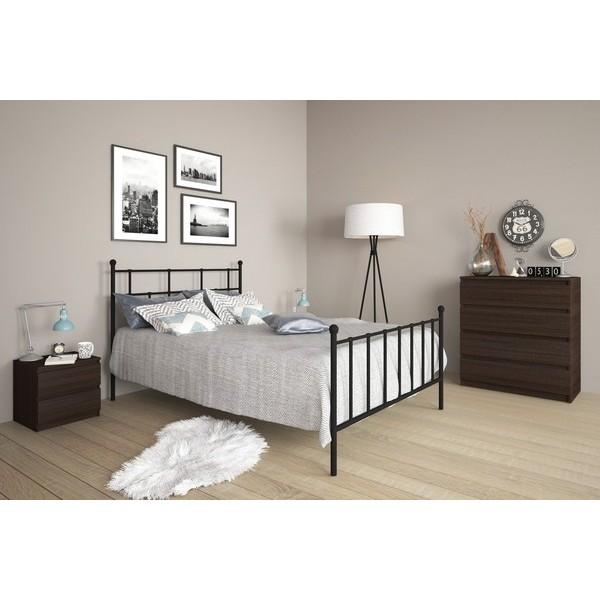 Μεταλλικό Κρεβάτι Lida Μαύρο