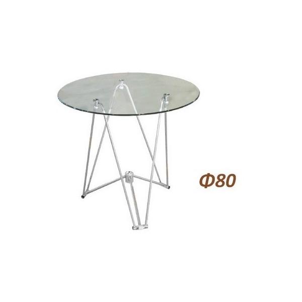 Τραπέζι Γυάλινο Φ80 1346