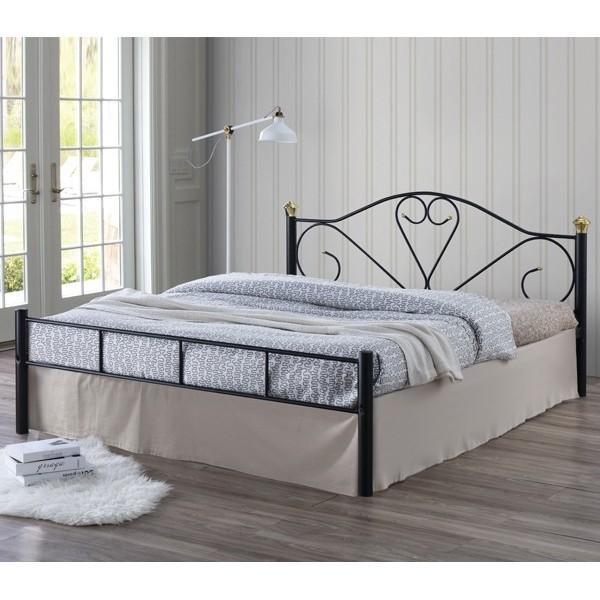 Μεταλλικό Κρεβάτι Spring Μαύρο