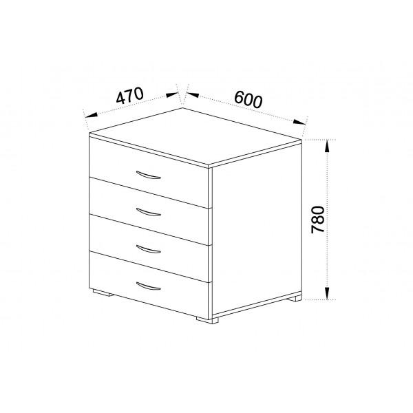 Συρταριέρα 4αρα 500-4