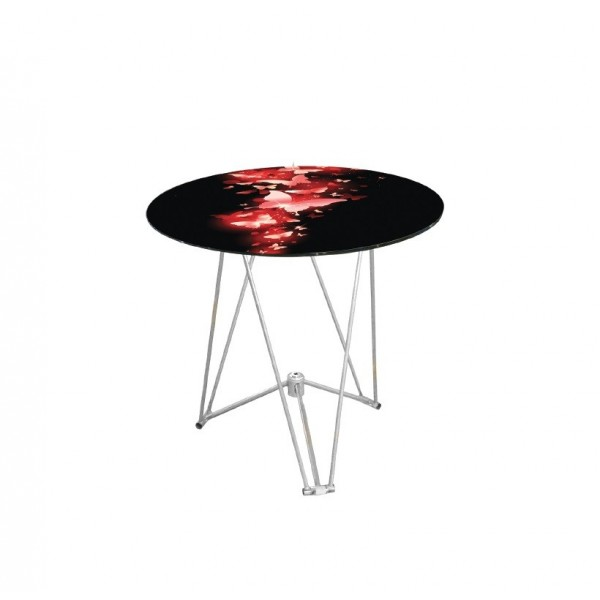 Τραπέζι Γυάλινο Φ90 1350