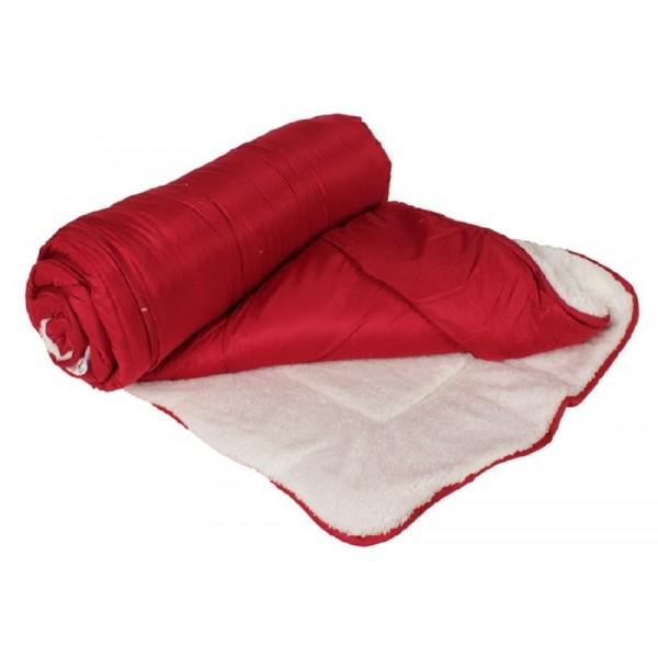 Πάπλωμα 1281 150Χ220 εκ. μικροφίμπρα/προβατακι Κόκκινο