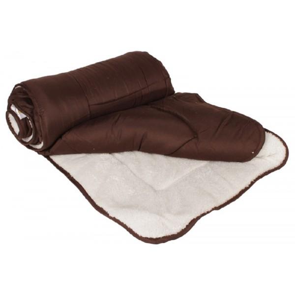 Πάπλωμα 1281 150Χ220 εκ. μικροφίμπρα/προβατακι Καφέ
