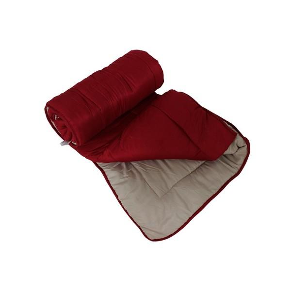 Πάπλωμα 1277 150Χ220 εκ. μικροφίμπρα διπλής όψης Κόκκινο/Μπεζ