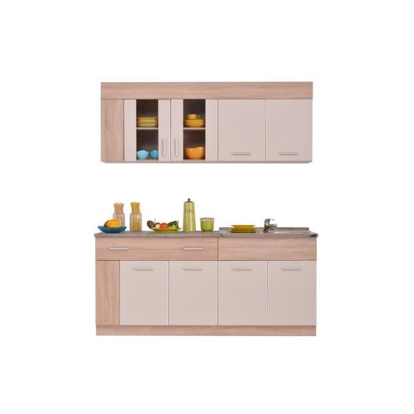 Κουζίνα Leona 180 Sonoma/Σαμπανιζέ