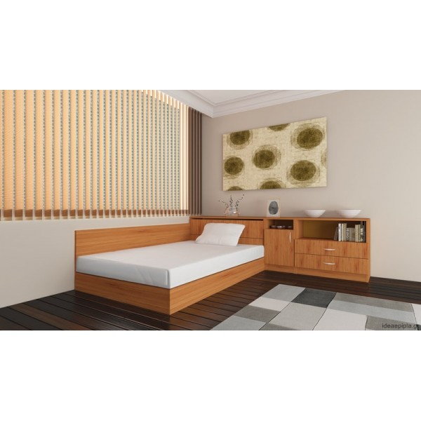 Σύνθεση κρεβατιού με κομοδίνο City 6