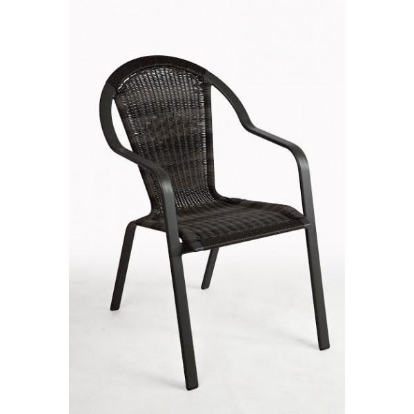 Καρέκλα Ratan Alu Καφέ