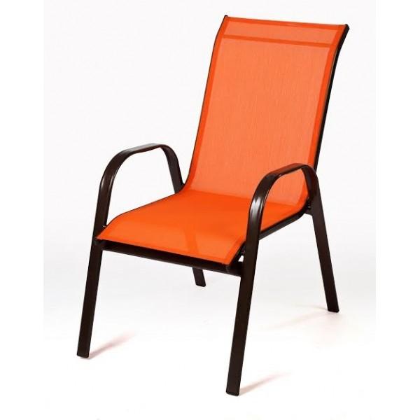 Πολυθρόνα textilene Πορτοκαλί Steel