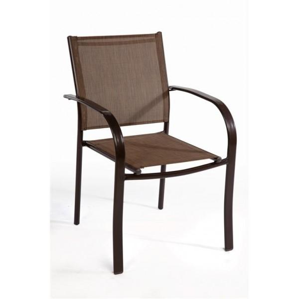 Καρέκλα Textilene Καφέ 341-14-022